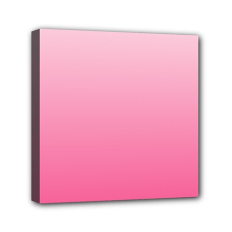 Piggy Pink To French Rose Gradient Mini Canvas 6  X 6  (framed)