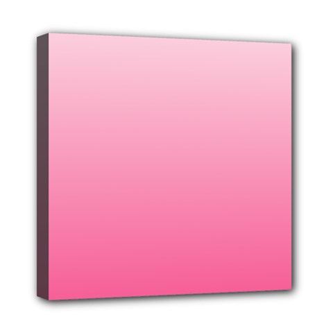 Piggy Pink To French Rose Gradient Mini Canvas 8  X 8  (framed)