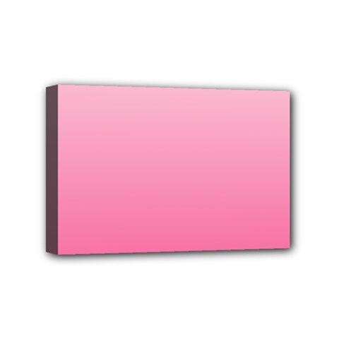 Piggy Pink To French Rose Gradient Mini Canvas 6  X 4  (framed)