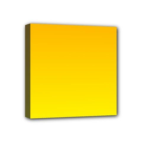 Chrome Yellow To Yellow Gradient Mini Canvas 4  X 4  (framed)