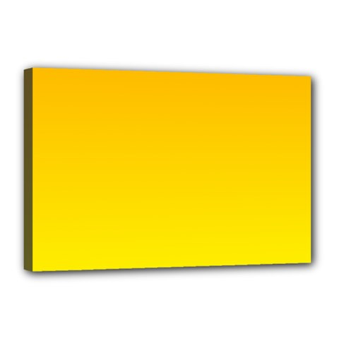 Chrome Yellow To Yellow Gradient Canvas 18  X 12  (framed)