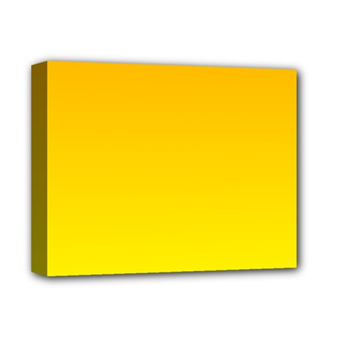 Chrome Yellow To Yellow Gradient Deluxe Canvas 14  X 11  (framed)