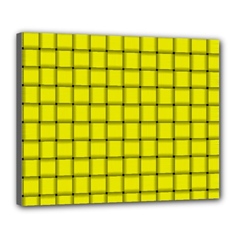 Yellow Weave Canvas 20  X 16  (framed) by BestCustomGiftsForYou