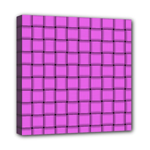 Ultra Pink Weave  Mini Canvas 8  X 8  (framed) by BestCustomGiftsForYou