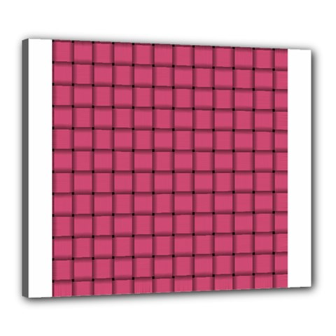Dark Pink Weave Canvas 24  X 20  (framed)