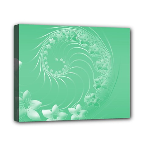 10   Light Green Flowers Canvas 10  X 8  (framed) by BestCustomGiftsForYou