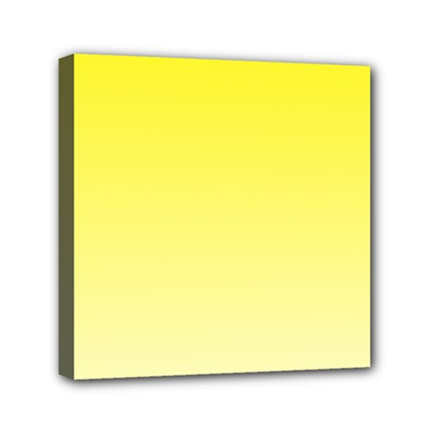 Cadmium Yellow To Cream Gradient Mini Canvas 6  X 6  (framed) by BestCustomGiftsForYou