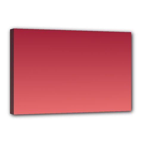 Burgundy To Pastel Red Gradient Canvas 18  X 12  (framed) by BestCustomGiftsForYou