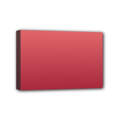 Pastel Red To Burgundy Gradient Mini Canvas 6  X 4  (framed) by BestCustomGiftsForYou