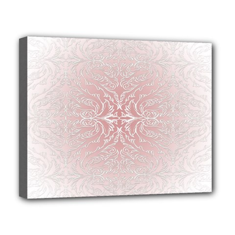 Elegant Damask Deluxe Canvas 20  X 16  (framed) by ADIStyle
