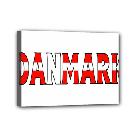 Denmark Mini Canvas 7  X 5  (framed)