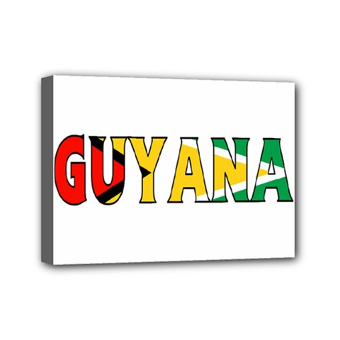 Guyana Mini Canvas 7  X 5  (framed)