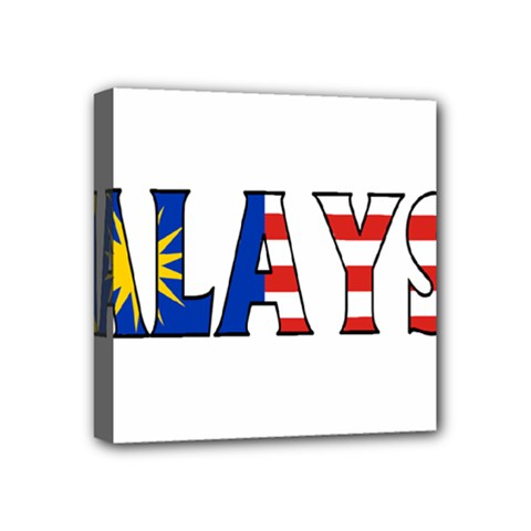 Malaysia Mini Canvas 4  X 4  (framed) by worldbanners