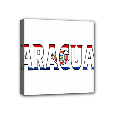 Paraguay Mini Canvas 4  X 4  (framed) by worldbanners
