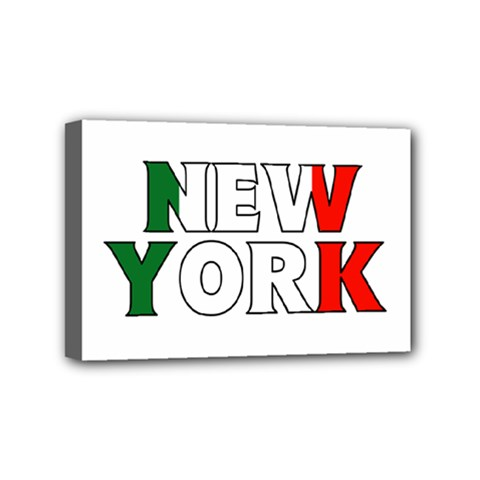 New York Italy Mini Canvas 6  X 4  (framed)