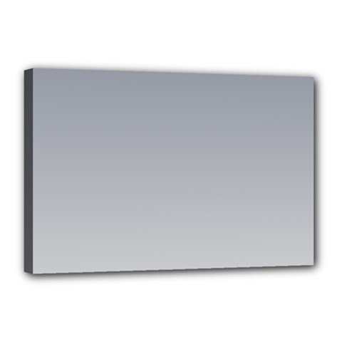Roman Silver To Gainsboro Gradient Canvas 18  X 12  (framed)