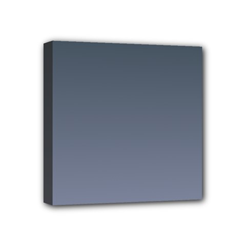 Charcoal To Cool Gray Gradient Mini Canvas 4  X 4  (framed) by BestCustomGiftsForYou