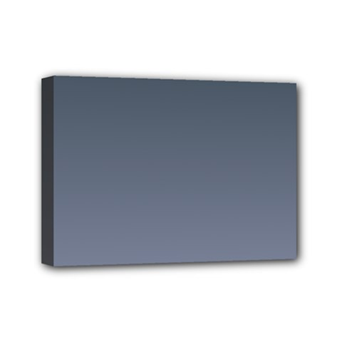 Charcoal To Cool Gray Gradient Mini Canvas 7  X 5  (framed) by BestCustomGiftsForYou