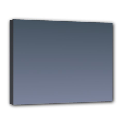 Charcoal To Cool Gray Gradient Canvas 14  X 11  (framed) by BestCustomGiftsForYou