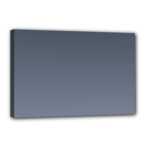 Charcoal To Cool Gray Gradient Canvas 18  X 12  (framed) by BestCustomGiftsForYou