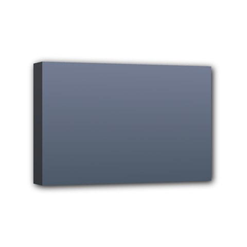 Cool Gray To Charcoal Gradient Mini Canvas 6  X 4  (framed) by BestCustomGiftsForYou