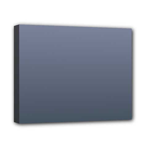 Cool Gray To Charcoal Gradient Canvas 10  X 8  (framed) by BestCustomGiftsForYou