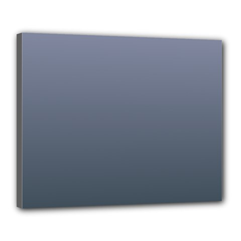 Cool Gray To Charcoal Gradient Canvas 20  X 16  (framed) by BestCustomGiftsForYou