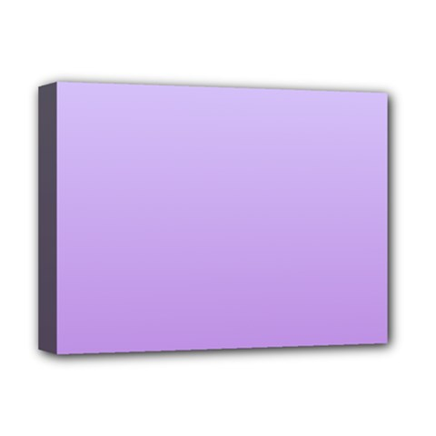 Pale Lavender To Lavender Gradient Deluxe Canvas 16  X 12  (framed)