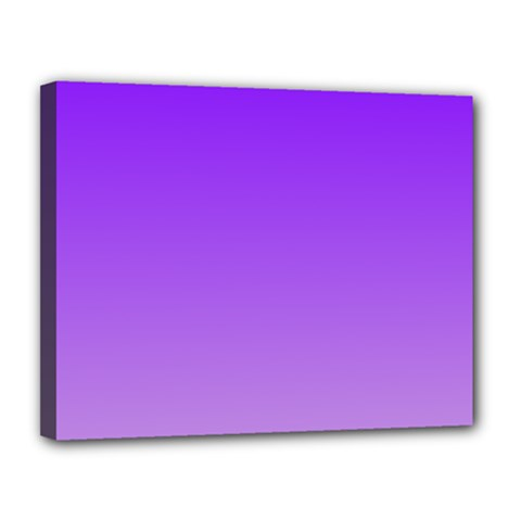 Violet To Wisteria Gradient Canvas 14  X 11  (framed)