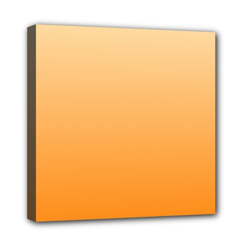 Peach To Orange Gradient Mini Canvas 8  X 8  (framed) by BestCustomGiftsForYou