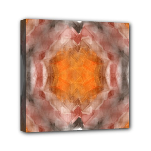 Seamless Background Fractal Mini Canvas 6  X 6  (framed)