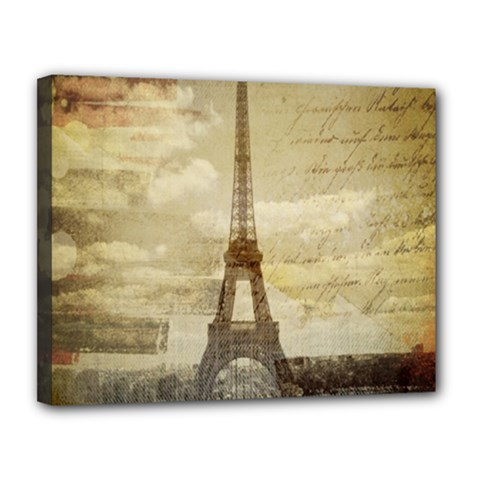 Elegant Vintage Paris Eiffel Tower Art Canvas 14  X 11  (framed) by chicelegantboutique