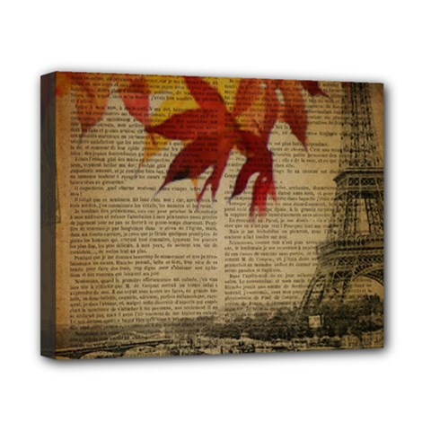 Elegant Fall Autumn Leaves Vintage Paris Eiffel Tower Landscape Canvas 10  X 8  (framed) by chicelegantboutique