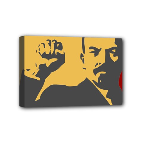 Power With Lenin Mini Canvas 6  X 4  (framed) by youshidesign