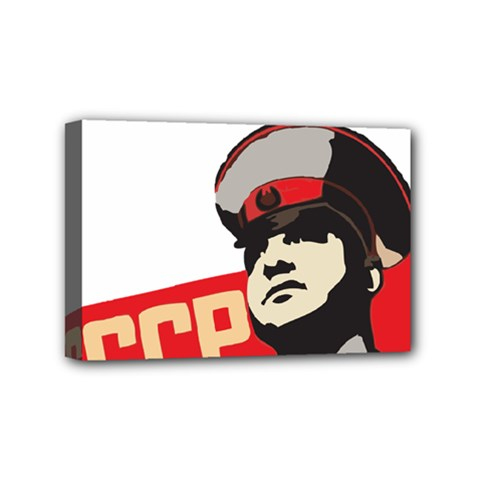 Soviet Red Army Mini Canvas 6  X 4  (framed) by youshidesign