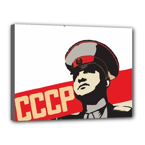Soviet Red Army Canvas 16  X 12  (framed) by youshidesign