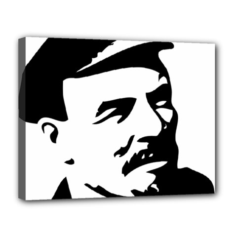 Lenin Portret Canvas 14  X 11  (framed) by youshidesign