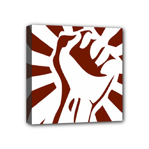 Fist Power Mini Canvas 4  X 4  (framed) by youshidesign
