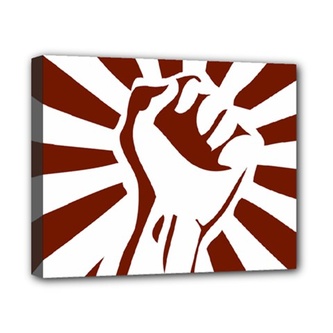 Fist Power Canvas 10  X 8  (framed) by youshidesign
