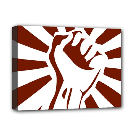 Fist Power Deluxe Canvas 16  X 12  (framed)  by youshidesign