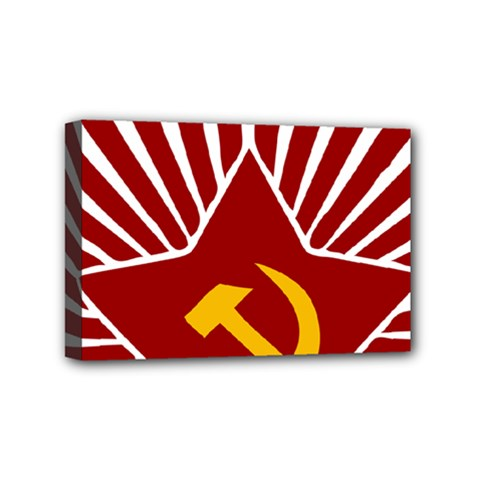 Hammer And Sickle Cccp Mini Canvas 6  X 4  (stretched) by youshidesign