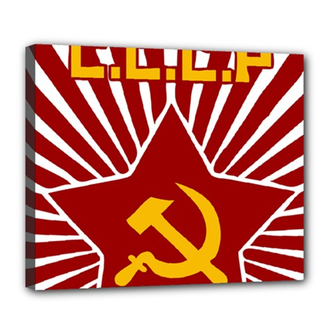 Hammer And Sickle Cccp Deluxe Canvas 24  X 20  (stretched) by youshidesign