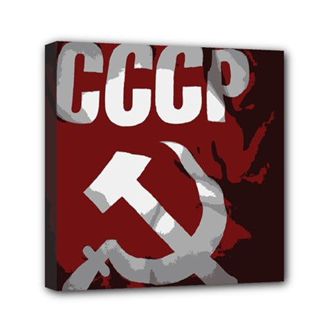 Cccp Soviet Union Flag Mini Canvas 6  X 6  (stretched) by youshidesign