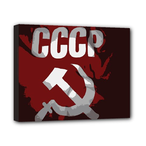 Cccp Soviet Union Flag Canvas 10  X 8  (stretched) by youshidesign