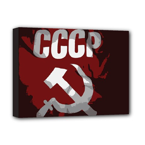 Cccp Soviet Union Flag Deluxe Canvas 16  X 12  (stretched)  by youshidesign