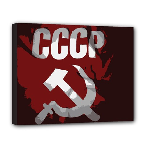Cccp Soviet Union Flag Deluxe Canvas 20  X 16  (stretched) by youshidesign