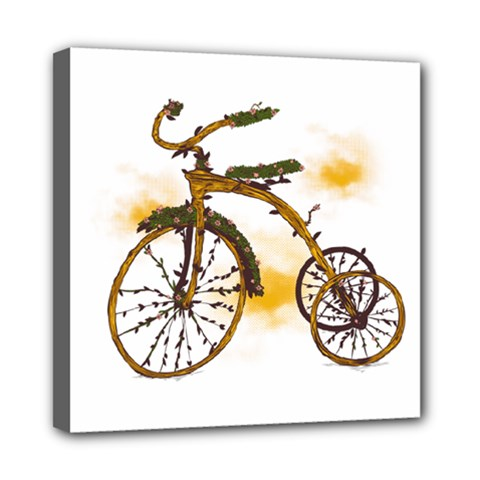 Tree Cycle Mini Canvas 8  X 8  (framed) by Contest1753604