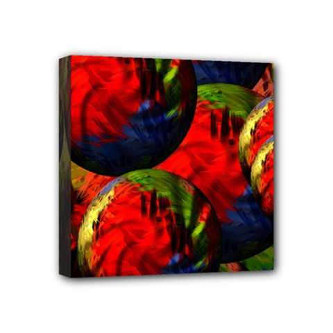 Balls Mini Canvas 4  X 4  (framed) by Siebenhuehner