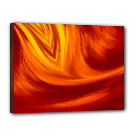 Wave Canvas 16  X 12  (framed) by Siebenhuehner