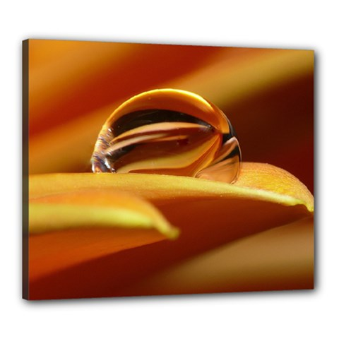 Waterdrop Canvas 24  X 20  (framed) by Siebenhuehner